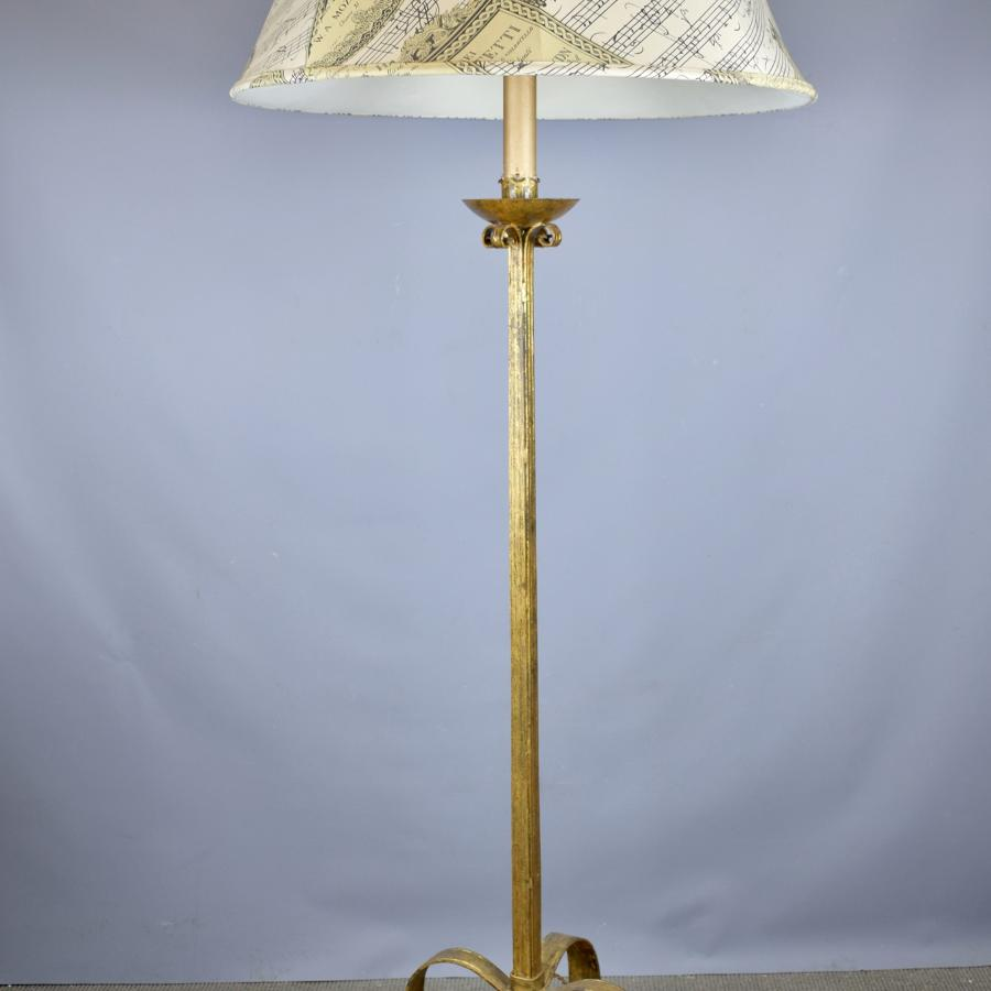 Spanish Gilt Metal Floor Lamp