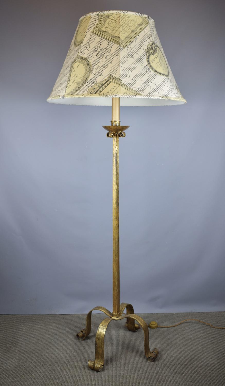 Spanish Gilt Metal Floor Lamp