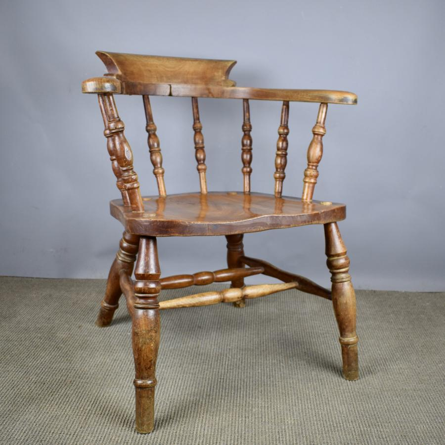 Smokers Bow Captains Elbow Chair by J Elliott & Son