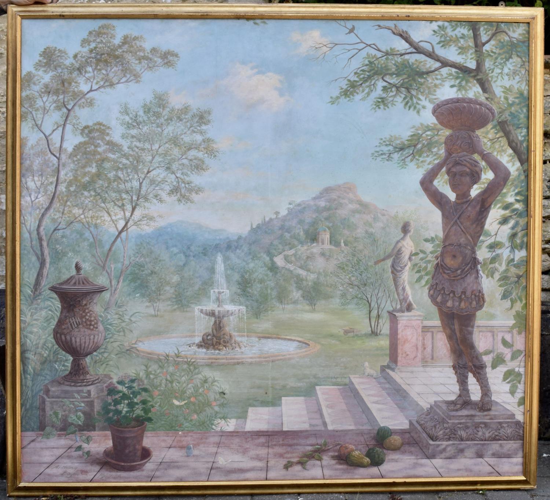 Anthony Baynes Large Oil of an Elysian Landscape