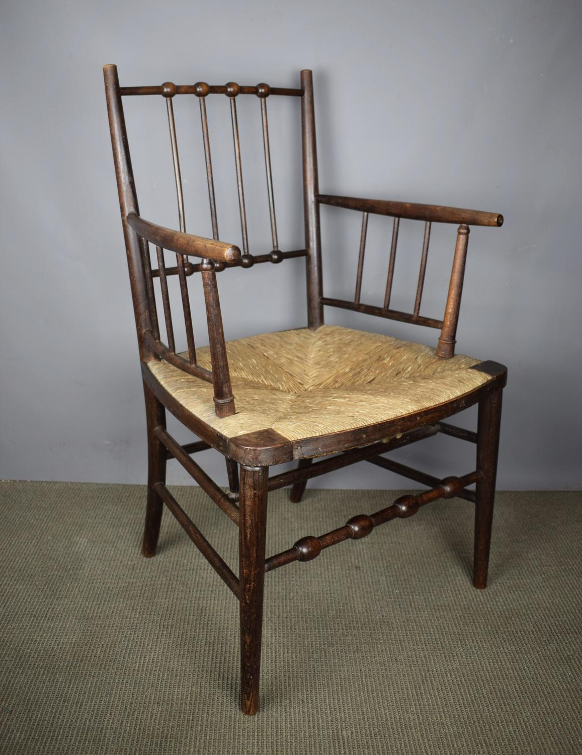Arts & Crafts Sussex Chair in the Manner of Morris & Co.