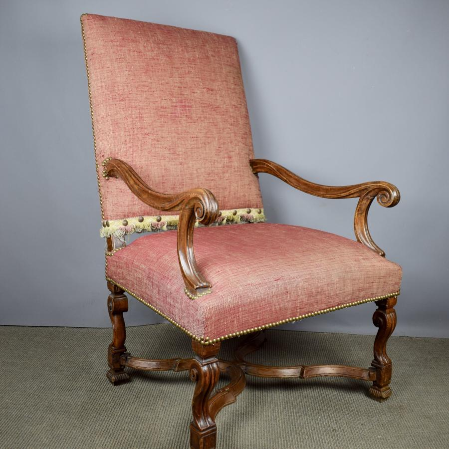 French 17th Century Walnut Armchair