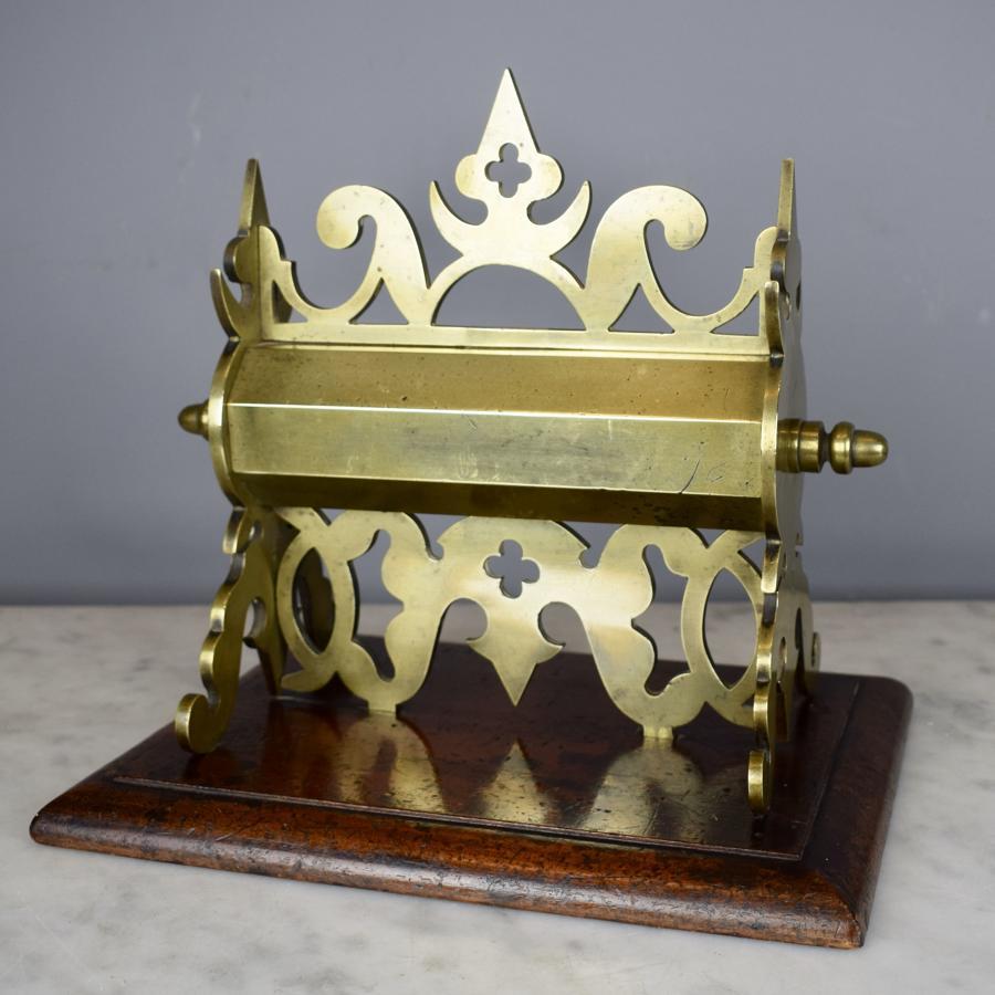 Victorian Gothic Brass Money Box