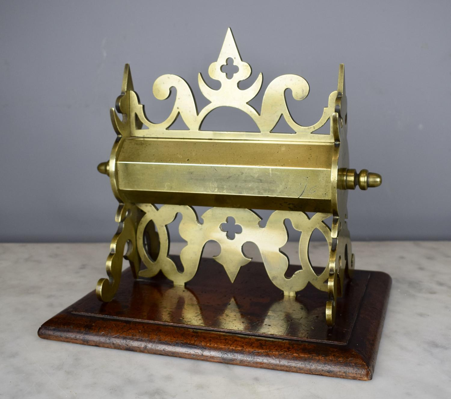 Victorian Gothic Brass Money Box