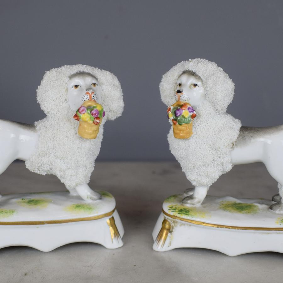Pair of French Samson Porcelain Poodles