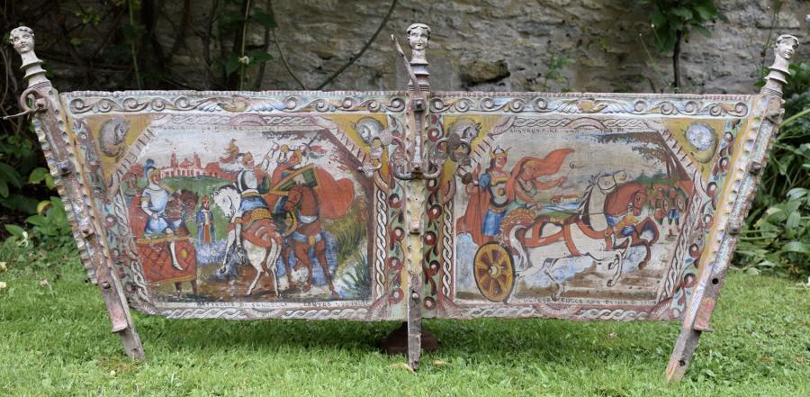 Sicilian Folk Art Hand Painted Cart Panel