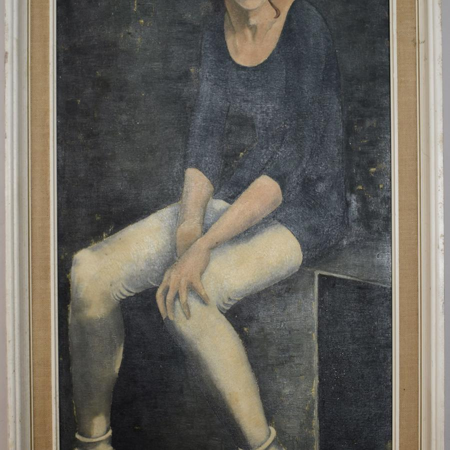 Bette Hastings 'The Ballet School', Oil on Board, dated '64
