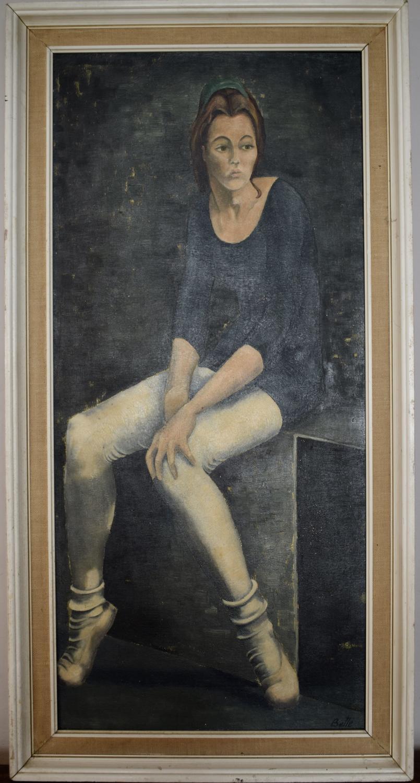 Bette Hastings 'The Ballet School', Oil on Board, dated '64