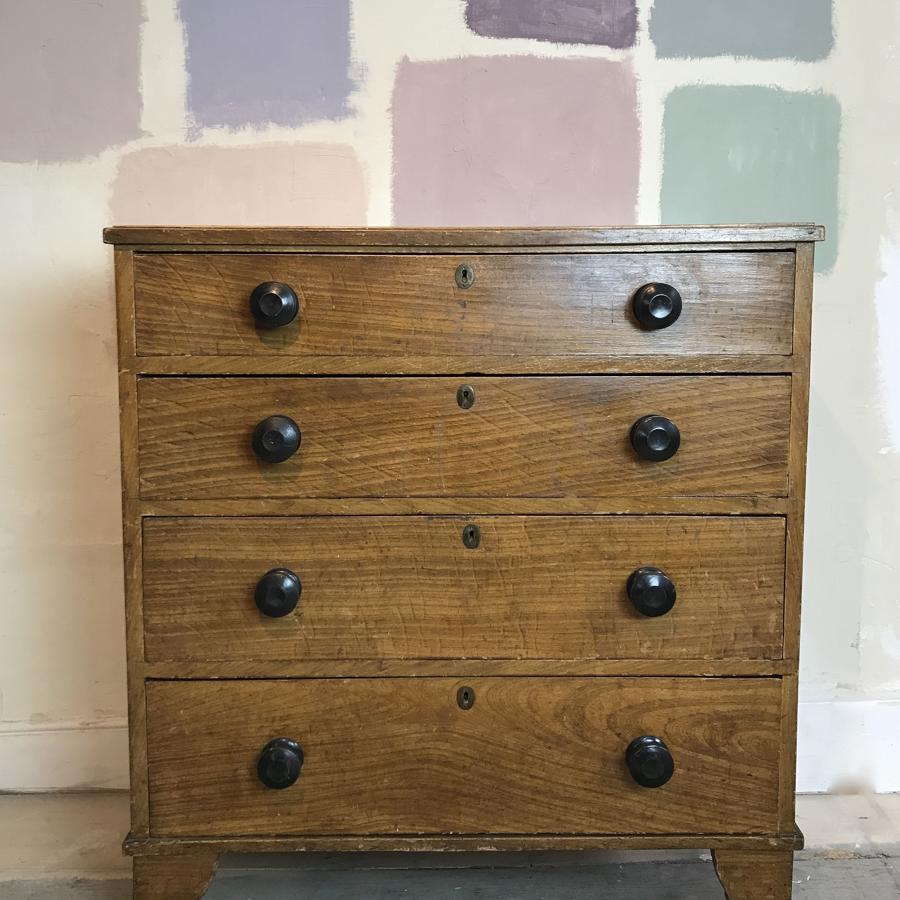Regency Scumble Glazed Chest of Drawers in Original Paint