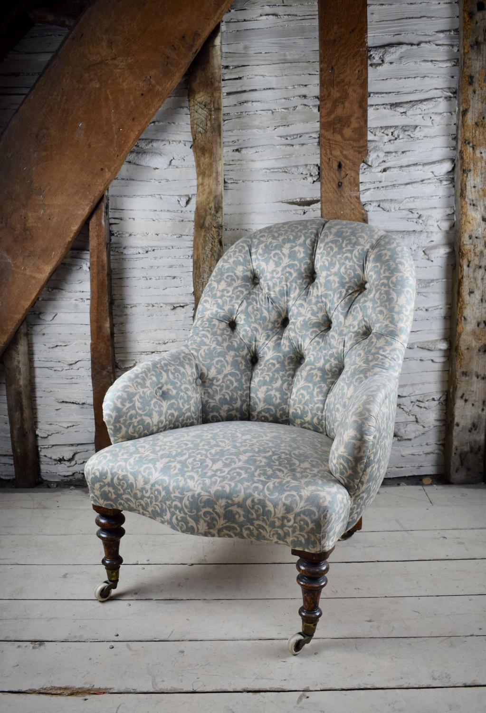 Antique Button Back Armchair