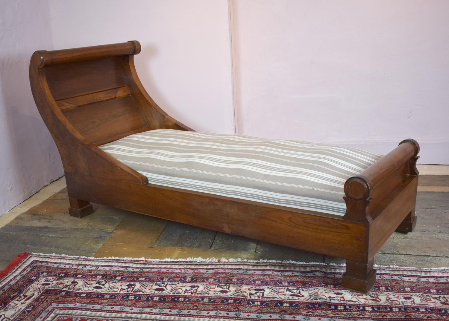 French Empire Mahogany Scroll End Daybed
