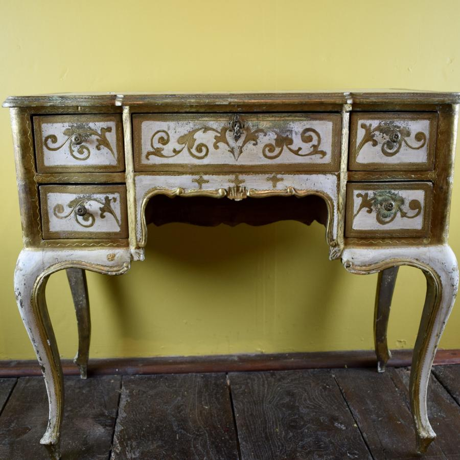 Vintage Italian Painted & Gilt Side Table