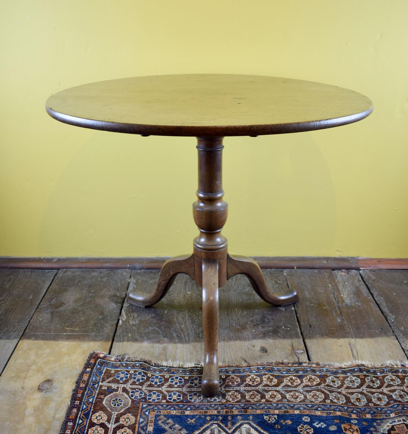 George III Mahogany Tip Top Tripod Table
