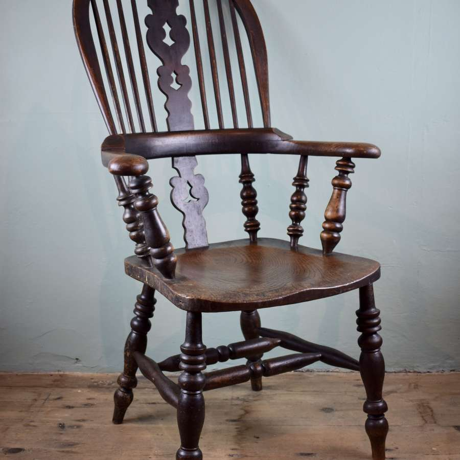 Antique North Country Windsor Elbow Chair