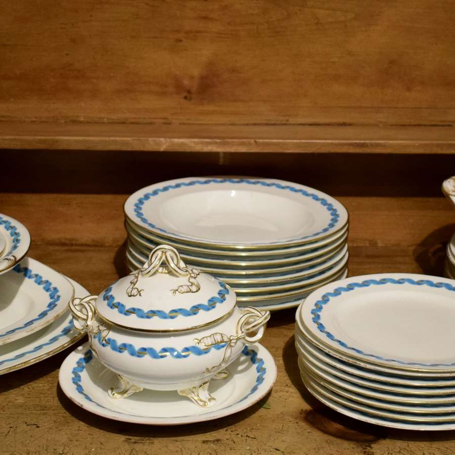 Victorian Porcelain Dinner Service in Minton Style