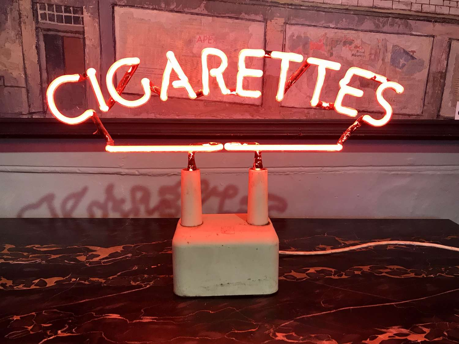 Rare Bush Neon 'Cigarettes' Sign