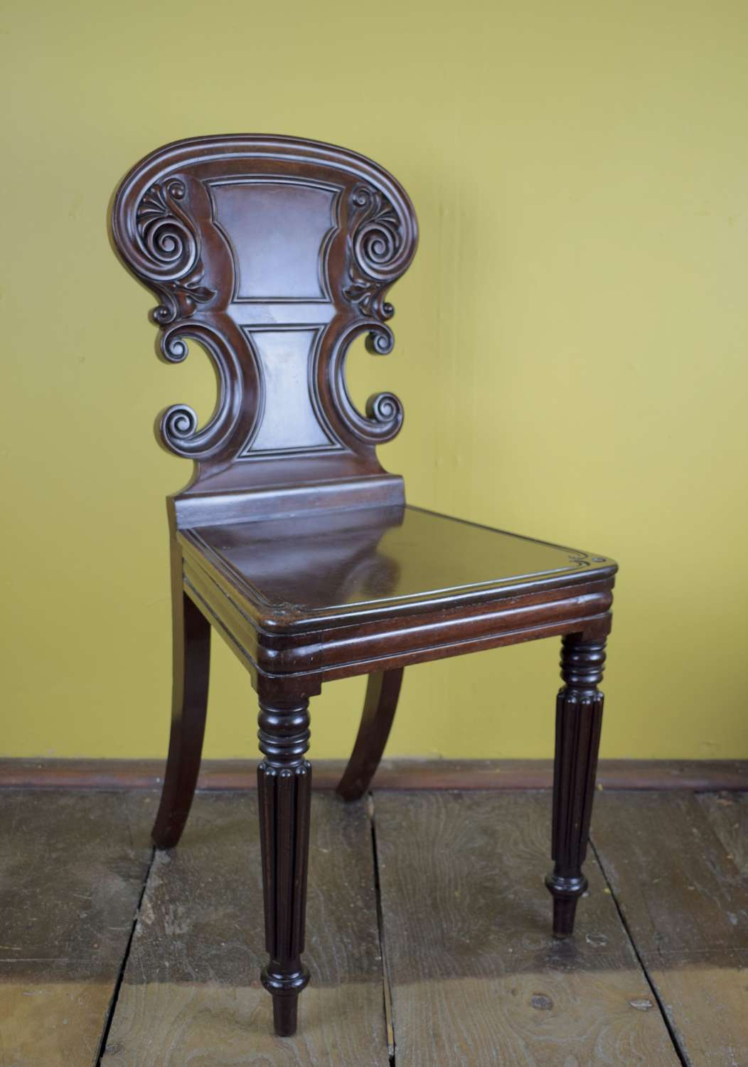 William IV Mahogany Hall Chair