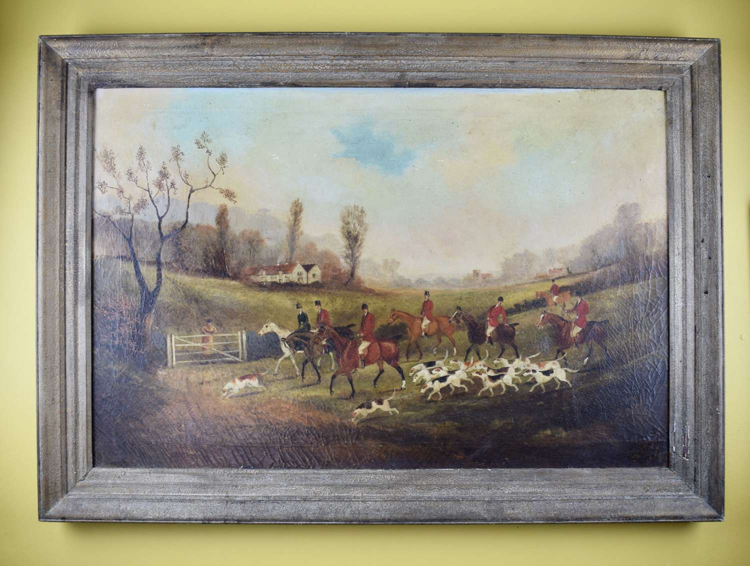 Philip Henry Rideout Oil on Canvas of a Hunting Scene