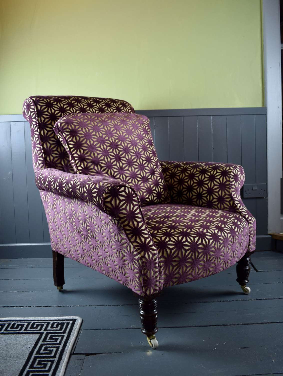 Victorian Library Armchair