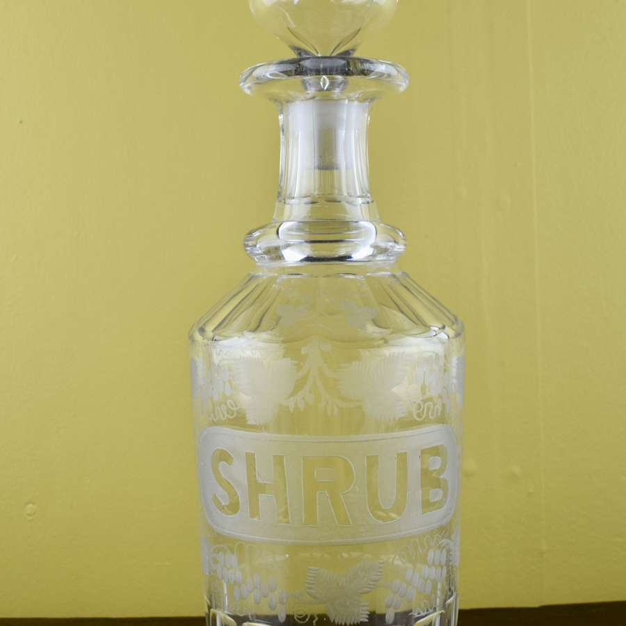 Georgian Cut Glass Shrub Decanter