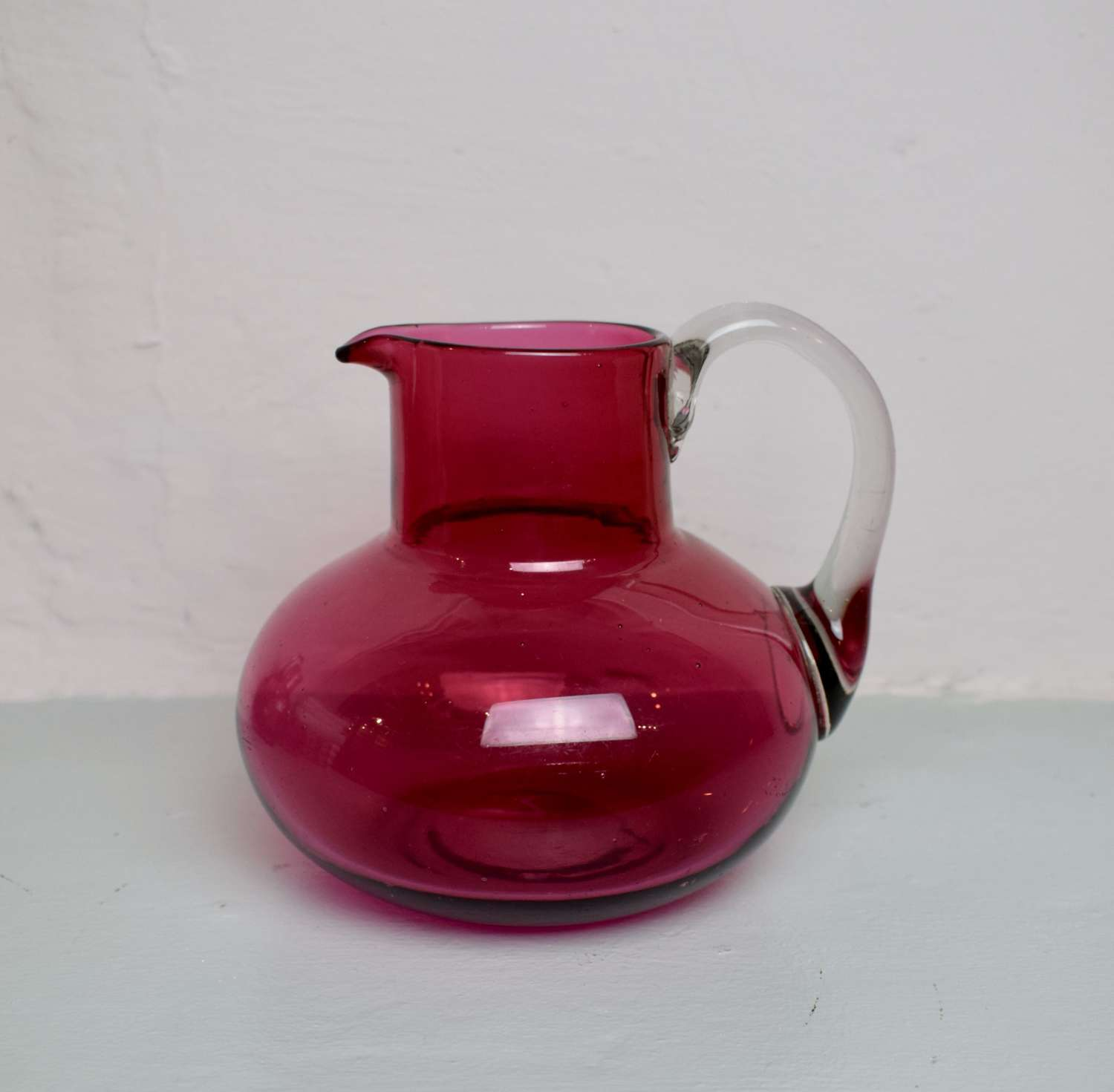 Victorian Cranberry Glass Water Jug