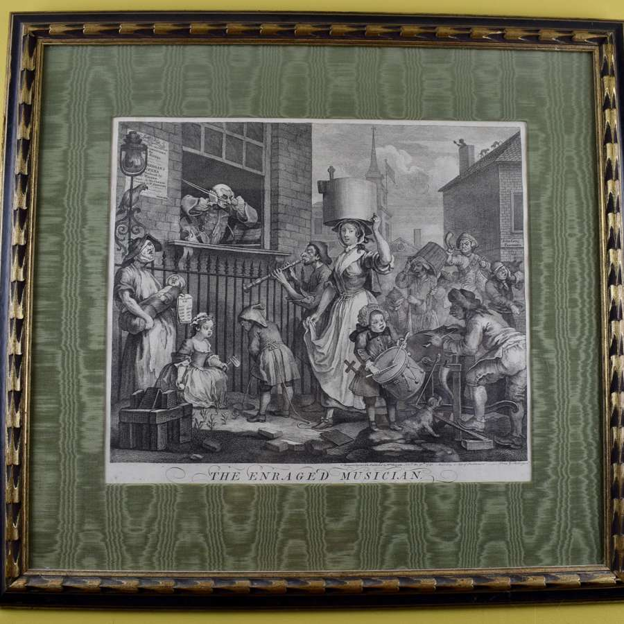 William Hogarth The Enraged Musician Engraving 1741