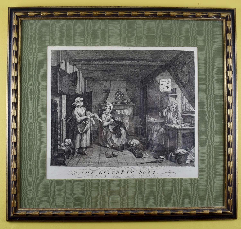 William Hogarth The Distrest Poet Engraving 1740