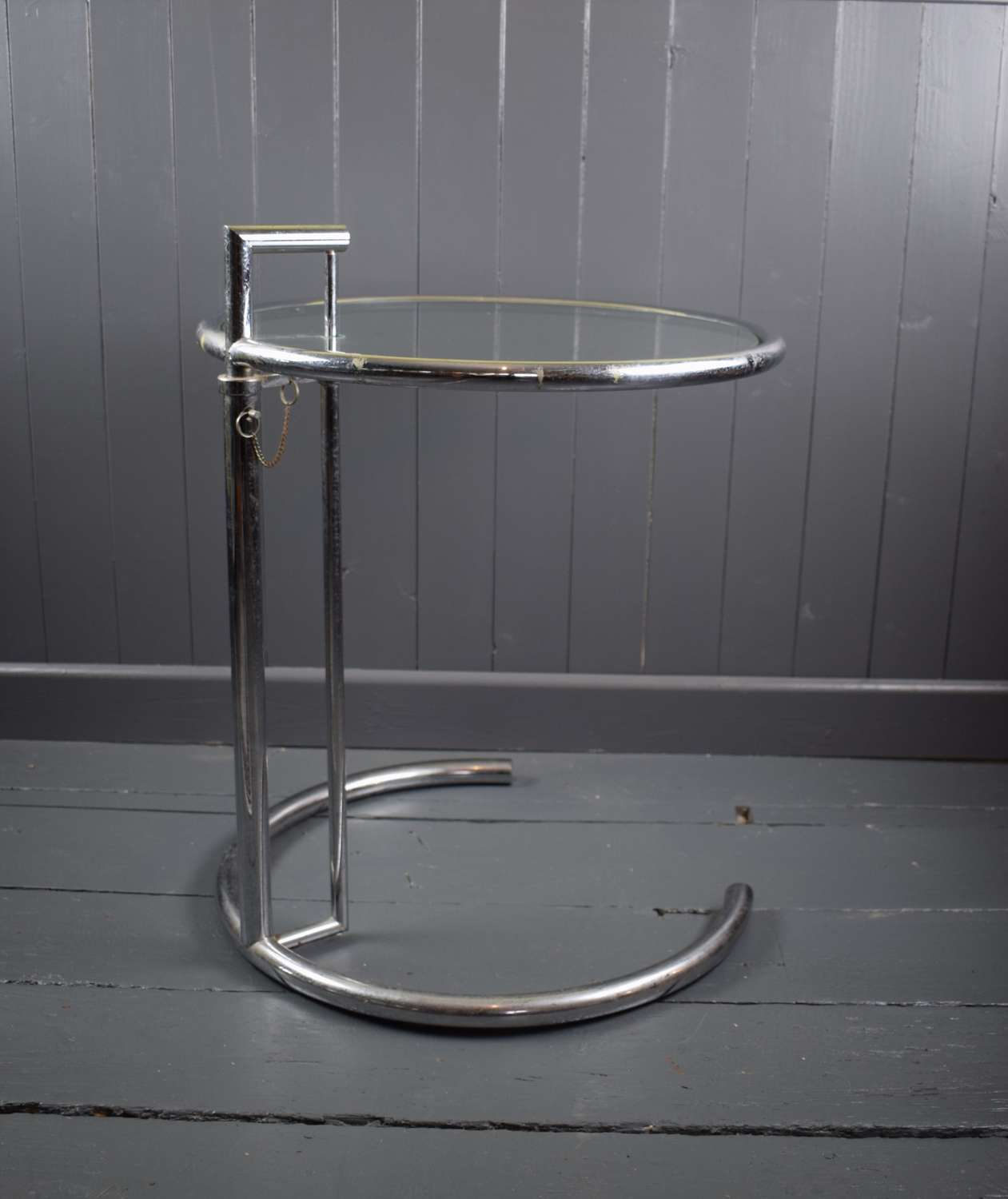 Eileen Gray E1027 Chrome Table