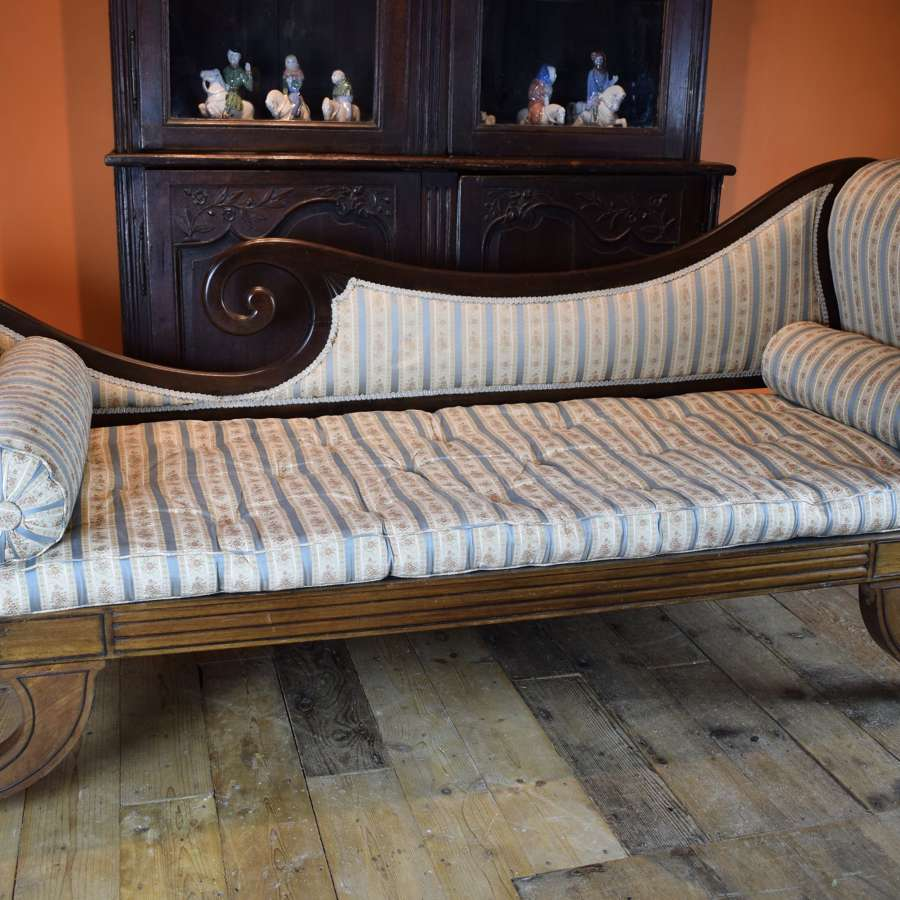 Regency Mahogany Chaise Longue / Daybed