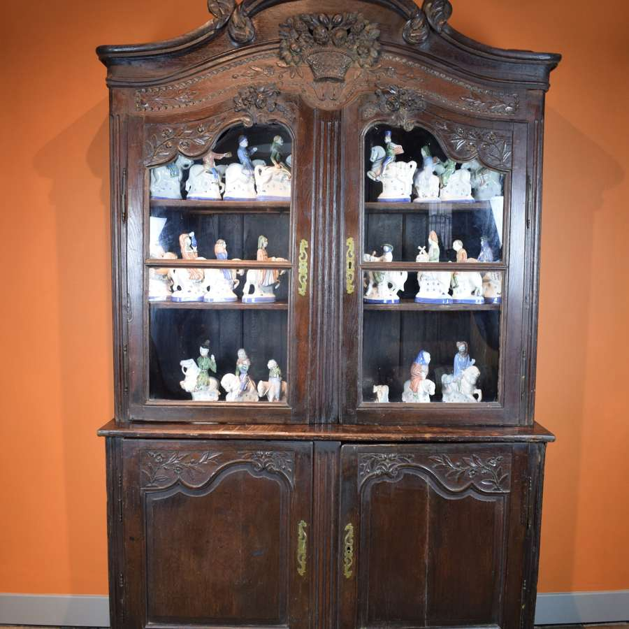 French 18th Century Oak Buffet a Deux Corps