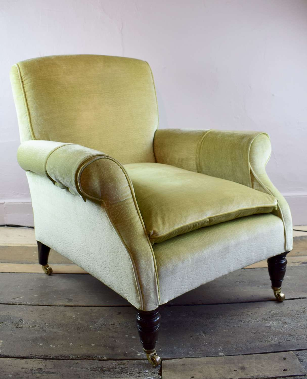 Antique Victorian Library Armchair