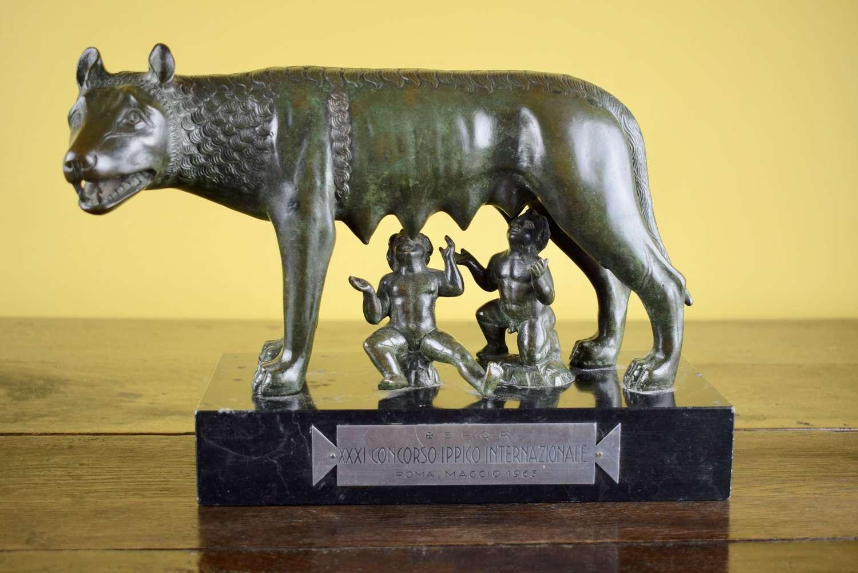 Bronze Rome Grand Prix Equestrian Trophy