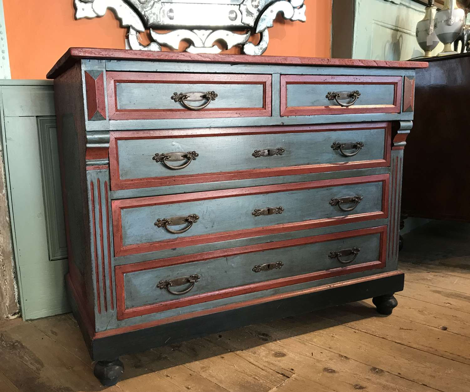 Swedish Gustavian Painted Chest of Drawers