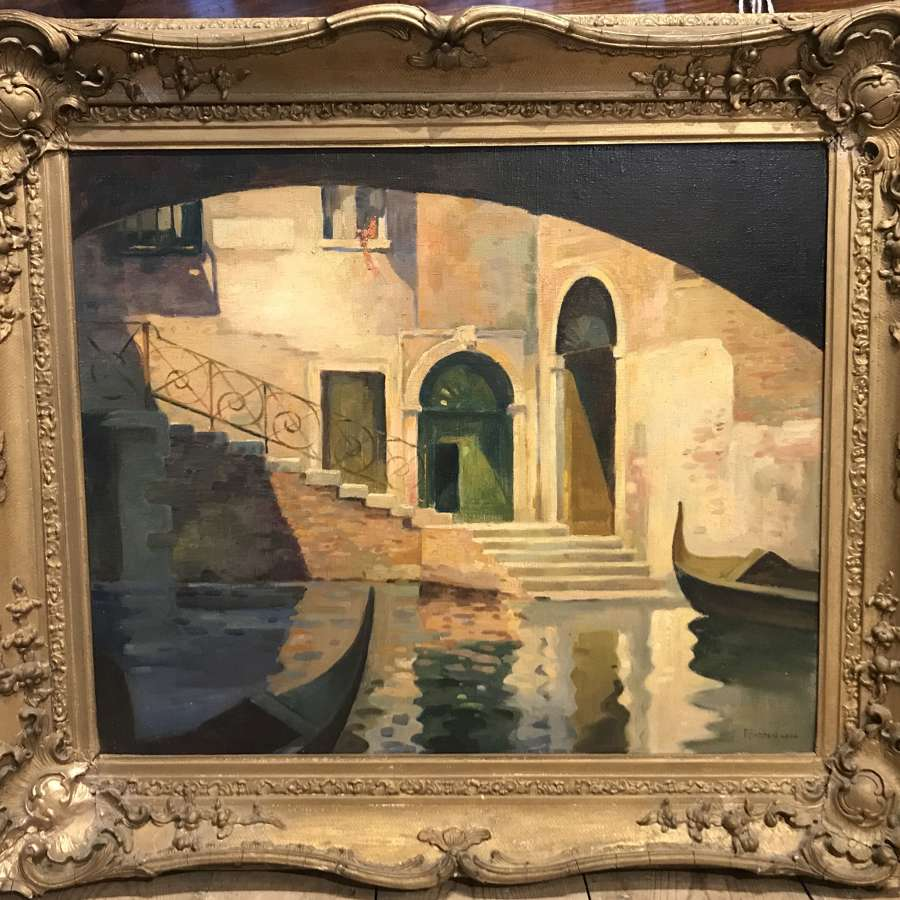 Percy Padden, Venetian Canal Scene, Oil on Canvas