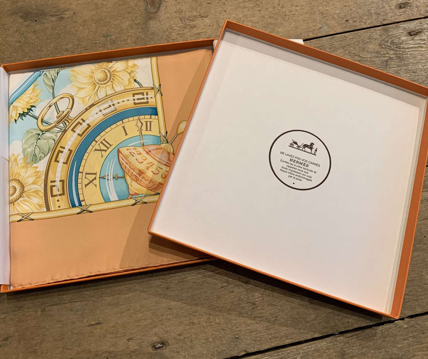 Vintage Hermes Scarf, Limited Edition for Vacheron Constantin