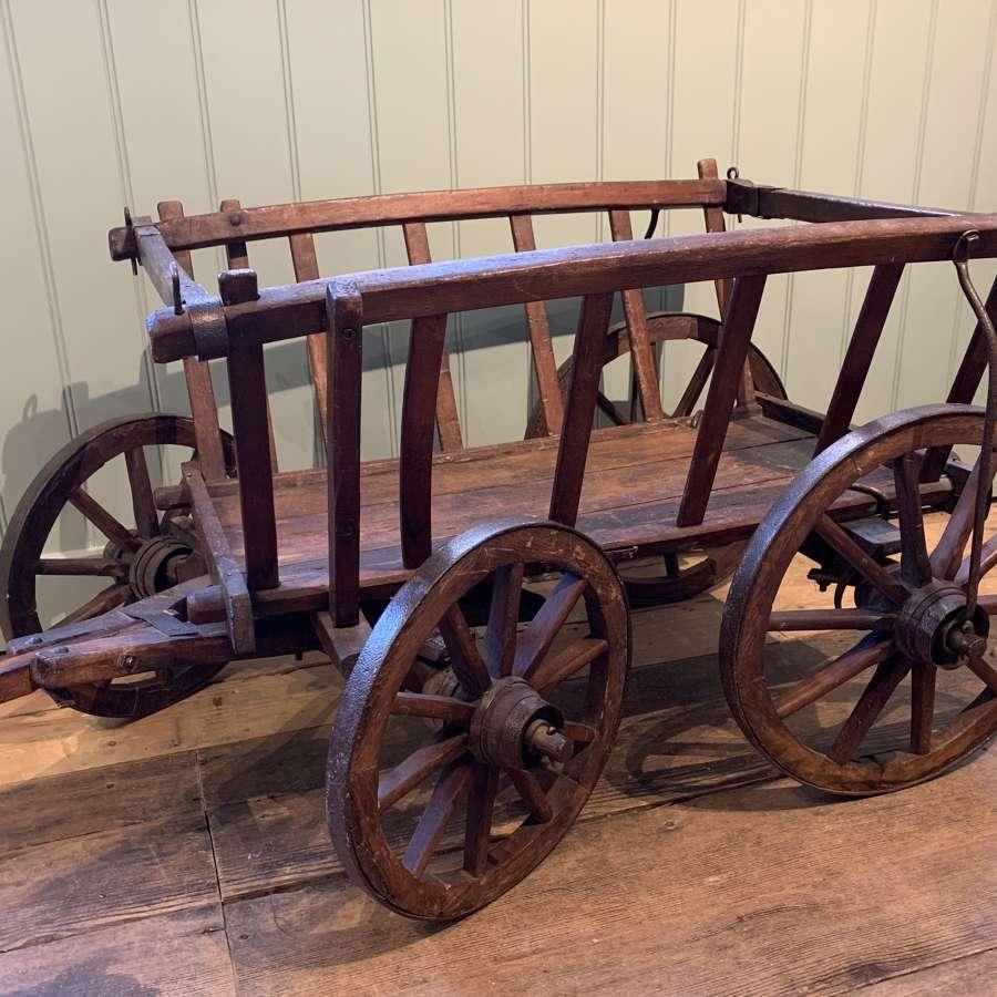 French Iron Bound Dog or Goat Cart