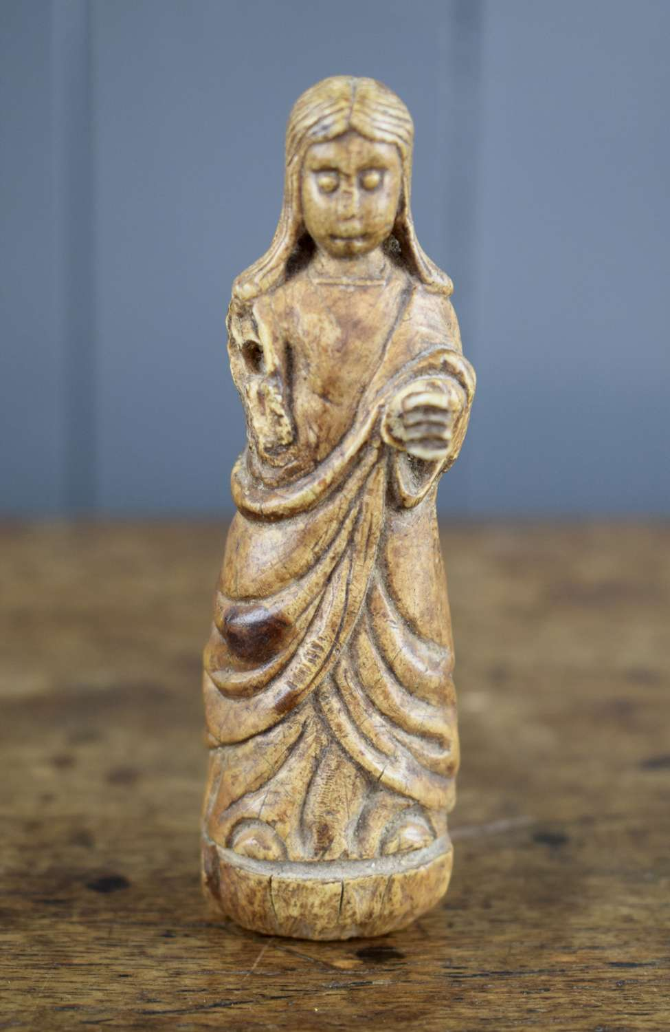 Medieval Ivory Carving of The Virgin Mary