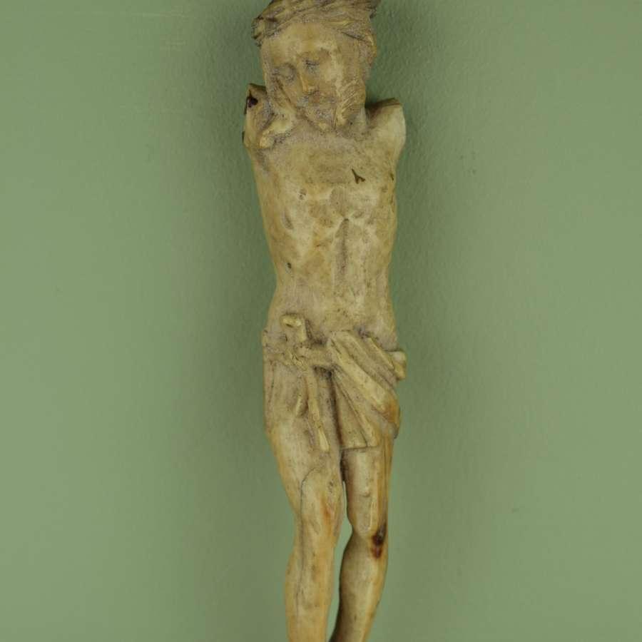 16th/17th Century Carved Ivory Corpus Christi