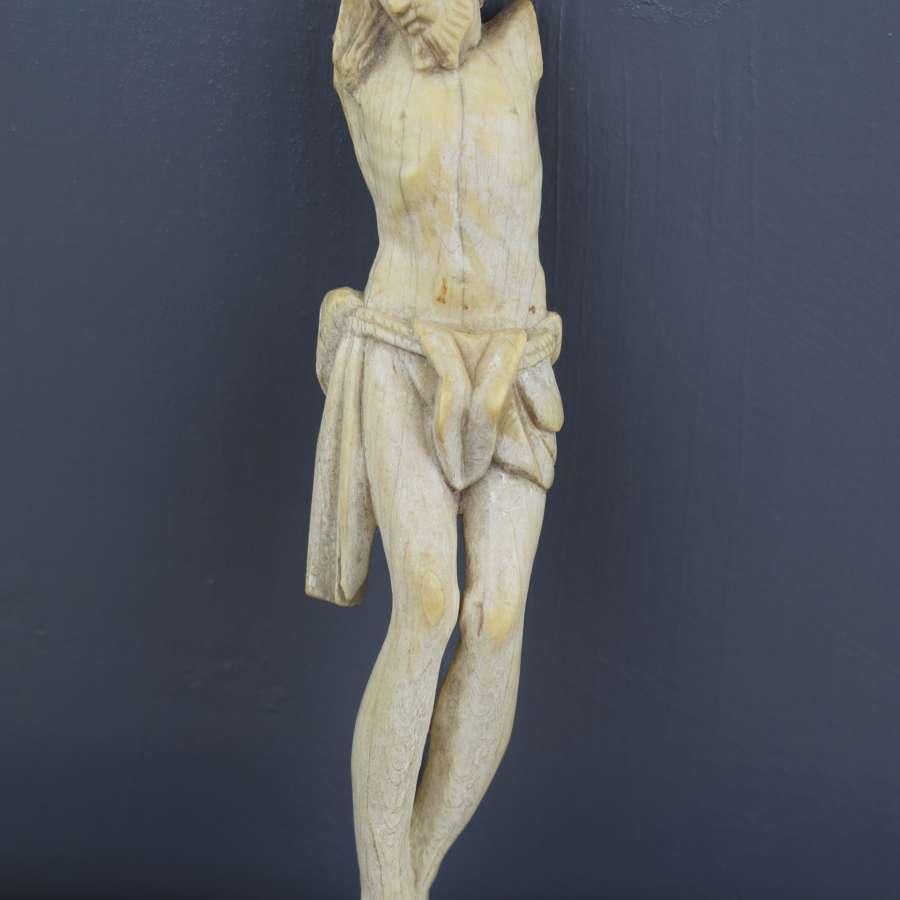 17th/18th Century Carved ivory Corpus Christi