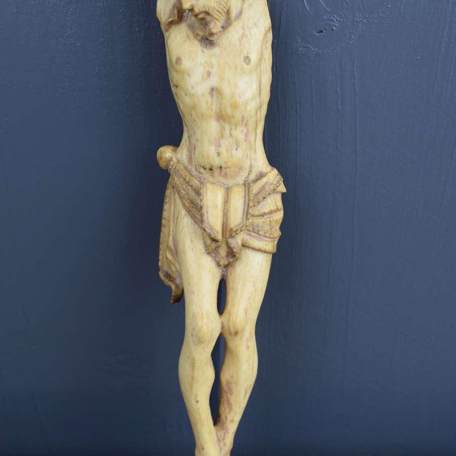 16th / 17th Century Carved Ivory Corpus Christi