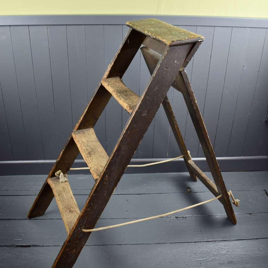 A Vintage Folding Step Ladder