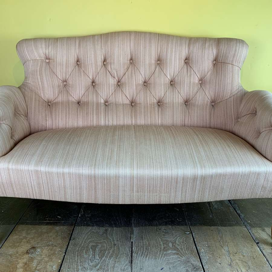 Vintage French Button Back Two Seat Sofa