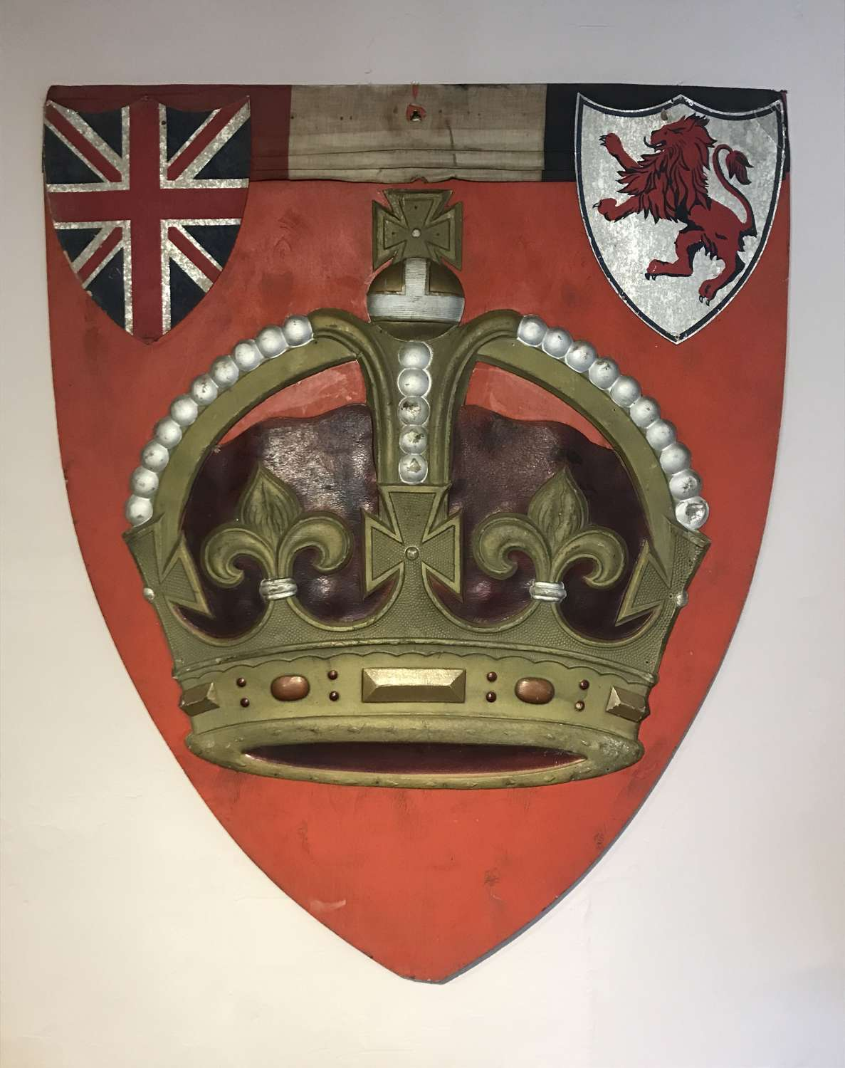 Large Shield Shaped Commemorative Panel