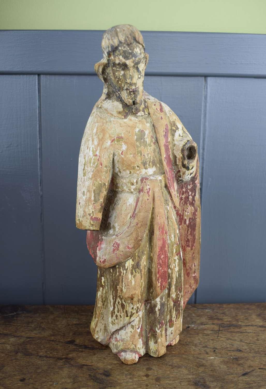 Spanish Colonial Devotional Figure of Christ