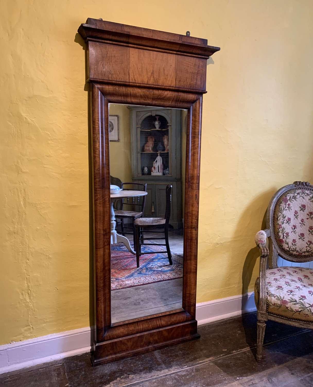 Biedermeier Mahogany Full Length Mirror