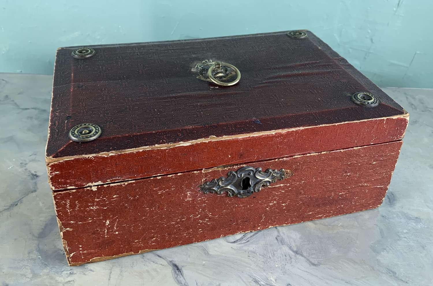 Regency Paper Covered Sewing Box