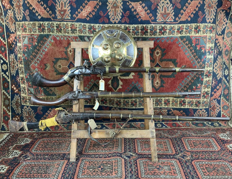 Display of Antique Guns & An Indian Dahl Shield