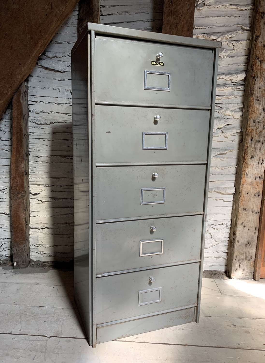 Vintage French Notaire's Metal Cabinet / Locker