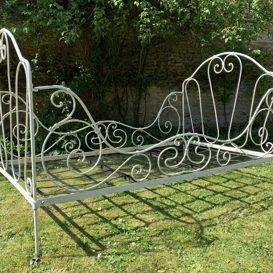 Antique French Wrought Iron Bed / Daybed