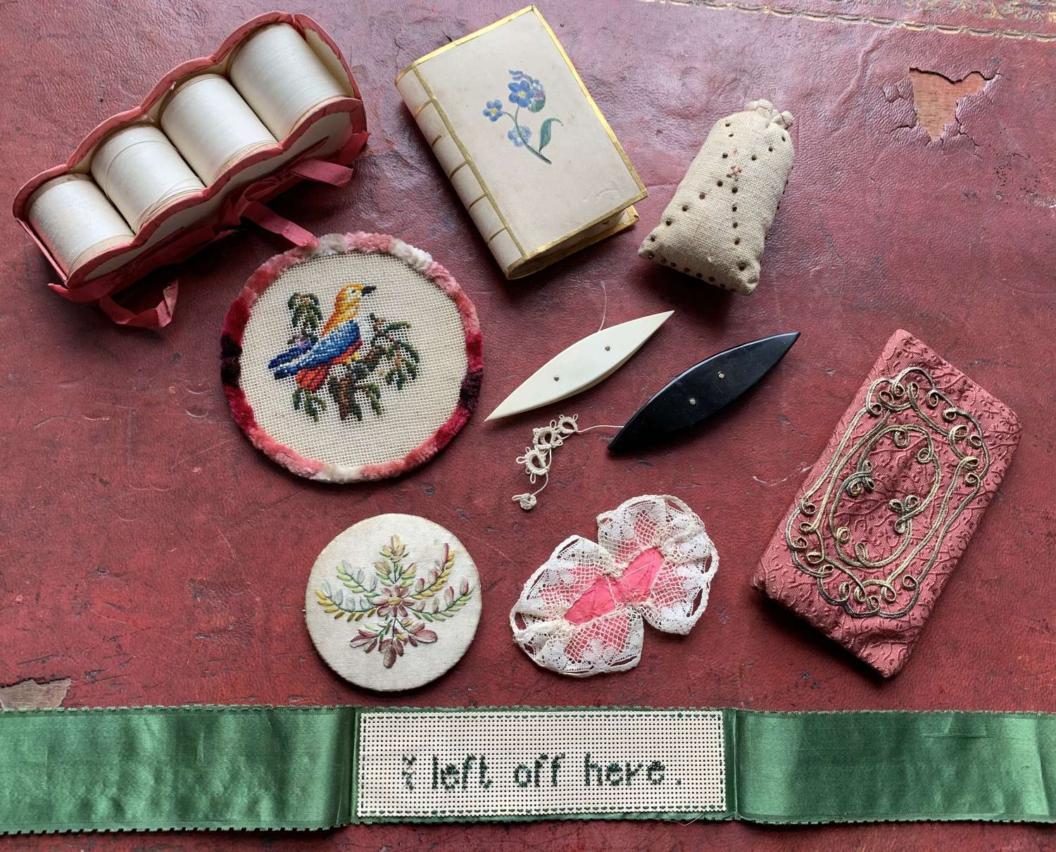 Collection of Antique Needlework Accessories